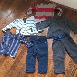 Bundle of toddler boy clothes